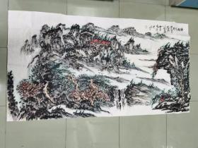 【保真 特惠】中美协会员 王振中艺术馆馆长 张新庆 六尺整张山水15