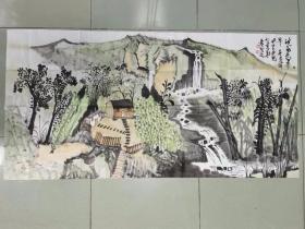 【保真】中美协会员 国家一级美术师 杨帅 四尺整张山水5
