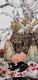 【保真 特惠】天津美术学院研究生 张涛 四尺整张精品花鸟