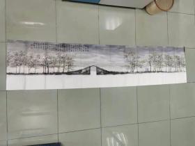 【保真 精品】中美协会员 天津省美协理事  柴博森 八尺对开山水国画
