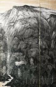 【巨幅精品 保真特惠】实力派画家 漫画大师 郑利民 巨幅精品山水