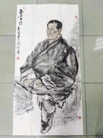 【保真】甘肃美协会员 兰州工业学院艺术设计学院副教授 吴江 四尺整张人物2