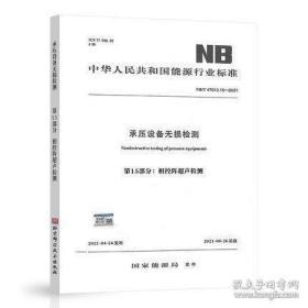 NB/T 47013.15-2021 承压设备无损检测 第15部分:相控阵超声检测