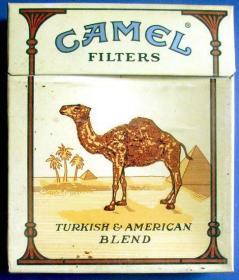 美国--CAMEL(骆驼)大方盒细枝烟--3D立体完整大而方烟盒、大而方烟标甩卖-照相反光-实物更美,罕见