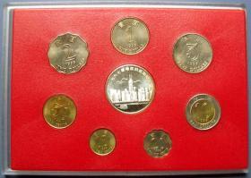 迎接97香港回归祖国纪念币7枚(1元、2元、5元、10元、10分、20分和50分)和银纪念章1枚--港币低价甩卖--实物拍照(实物更好,照相反光)-包真,