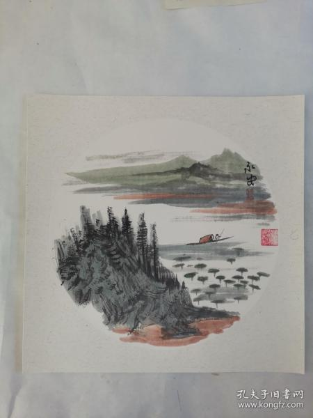 名家 国画------纯手绘------画心尺寸-----50   50厘米-------国家一级美术师,中国美协会员。39