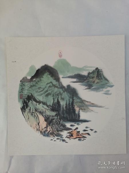 名家 国画------纯手绘------画心尺寸-----50   50厘米-------国家一级美术师,中国美协会员。45