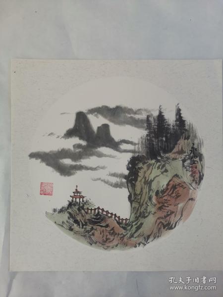 名家 国画------纯手绘------画心尺寸-----50   50厘米-------国家一级美术师,中国美协会员。40