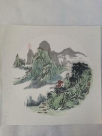 名家 国画------纯手绘------画心尺寸-----50   50厘米-------国家一级美术师,中国美协会员。53