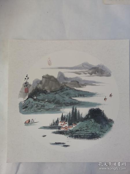 名家 国画------纯手绘------画心尺寸-----50   50厘米-------国家一级美术师,中国美协会员。42