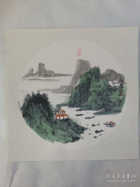 名家 国画------纯手绘------画心尺寸-----50   50厘米-------国家一级美术师,中国美协会员。52