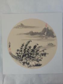 名家 国画------纯手绘------画心尺寸-----50   50厘米-------国家一级美术师,中国美协会员。49