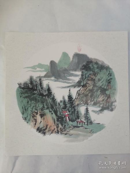名家 国画------纯手绘------画心尺寸-----50   50厘米-------国家一级美术师,中国美协会员。50
