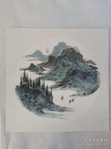 名家 国画------纯手绘------画心尺寸-----50   50厘米-------国家一级美术师,中国美协会员。44