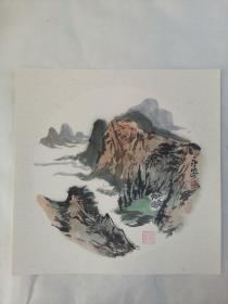名家 国画------纯手绘------画心尺寸-----50   50厘米-------国家一级美术师,中国美协会员。41