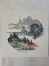 名家 国画------纯手绘------画心尺寸-----50   50厘米-------国家一级美术师,中国美协会员。46