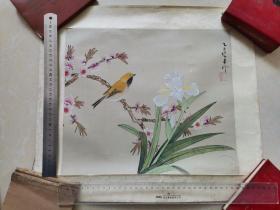 九江书画院早期作品 手绘工笔花鸟3