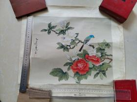 九江书画院早期作品 手绘工笔花鸟2