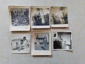 文革老照片6张合售(有两张景色是九江老桥头)