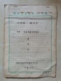 黄桥-赛湖地震异常验证设计书手稿