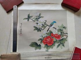 九江书画院早期作品 手绘工笔花鸟4