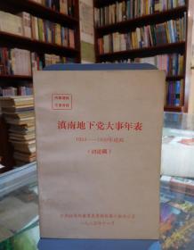 滇南地下党大事年表(1924--1950年建政  讨论稿)