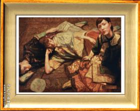 陈逸飞                    《 佳人 》       镜框    画芯尺寸 19X15.8厘米