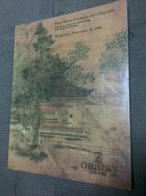 纽约佳士得1988年11月30日精美的中国绘画 书画及明清扇面 拍卖 图录