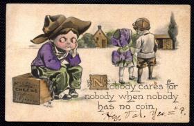 ◆ 美国老明信片实寄 --------------- 单身狗 1912年
