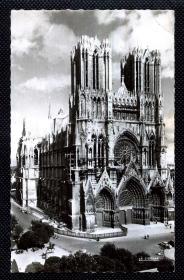 ☆. 民清明信片照片实寄 —— 巴黎圣 母 院。1962年