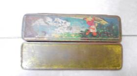 怀旧铅笔盒:小朋友划船(50.60年代)C1