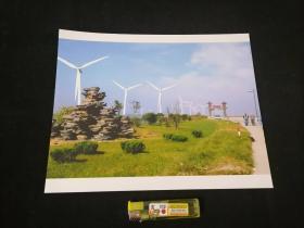 照片:沙滩换新貌(洋口港有了风力发电)