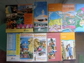 8种新加坡圣淘沙游览折页和册子 00-10年代