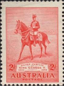 英联邦邮票,澳大利亚1935年骑马的乔治五世国王,澳新军团