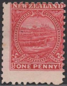 英联邦邮票J,新西兰1900年罗托马哈纳梯田,1p,自然风光