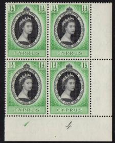 英联邦邮票,塞浦路斯1953年伊丽莎白二世女王加冕,1全,1枚价