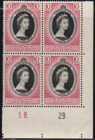英联邦邮票,马来亚吉打州1953年伊丽莎白二世女王加冕,1全,1枚