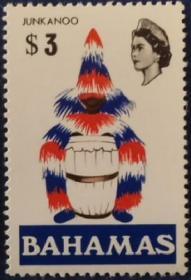 英联邦邮票H,巴哈马1971年地方风物,盛装打扮的鼓手,高值