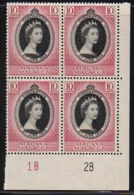 英联邦邮票,马来亚马六甲海峡1953年伊丽莎白二世女王加冕1全1枚