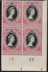 英联邦邮票,马来亚霹雳州1953年伊丽莎白二世女王加冕,1全,1枚