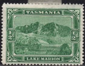 英联邦邮票,英属澳大利亚塔斯马尼亚1899年马里恩湖,自然风光