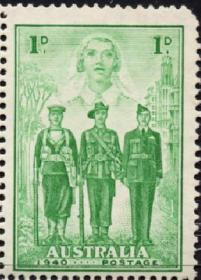 英联邦邮票,澳大利亚1940年参与二战,护士、水手、士兵、飞行员