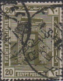英联邦邮票K,埃及 1914年卡纳克塔和孔苏神庙