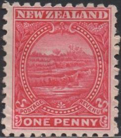英联邦邮票J,新西兰1898年罗托马哈纳梯田, 2½p,自然风光