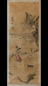 张士保(号菊如,清代山东著名画家画家、学者)《人物故事》