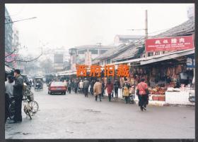 2000年前后,成都青石桥市场老照片,成都老街道民居建筑老照片