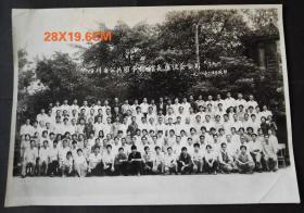 1988年于成都,四川省公共图书馆馆长座谈会合影老照片