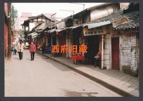 2000年前后,成都文殊坊巷老照片,成都街道建筑老照片