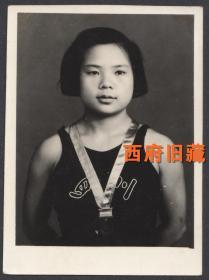 1957年,全国游泳运动大会,四川女游泳运动员老照片