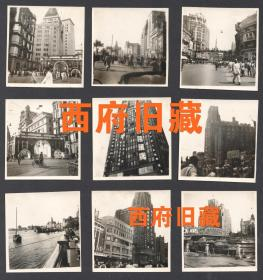 1949年,上海外滩庆祝人民政协成功,中央人民政府成立活动老照片9张,黑人牙膏等老广告,老式汽车,自行车,黄包车,旧式长衫等等极具时代特色的珍贵影像。